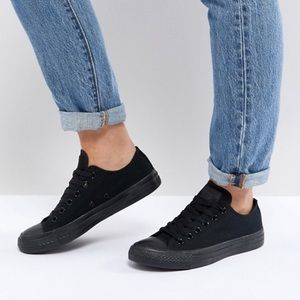 All Black Converse All-Star Size 4-1/2
